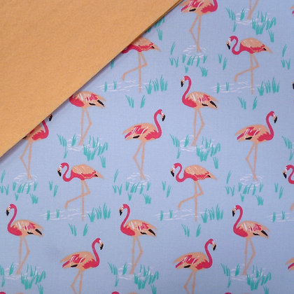 Fabric Felt :: Tropical Flamingo on Blossom