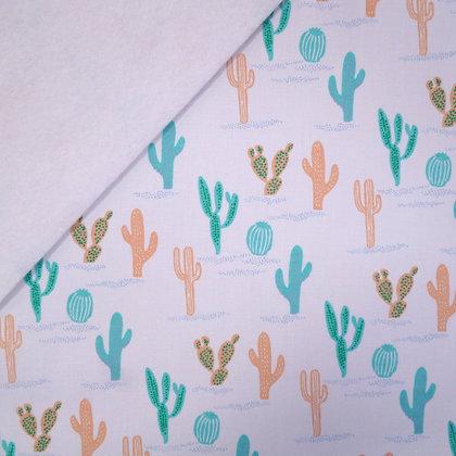 Fabric Felt :: Tropical Cactus on White