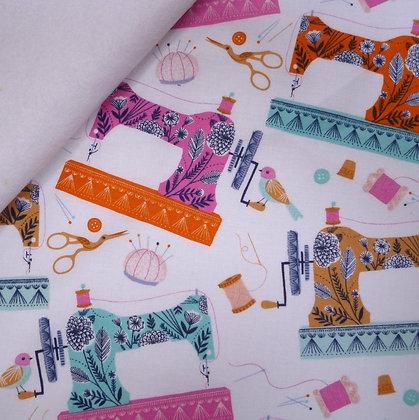Fabric Felt :: Stitches :: Sewing Machines on White