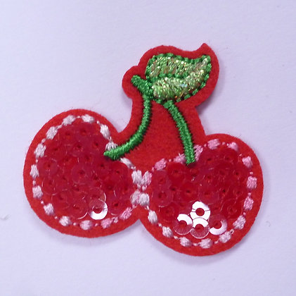 Embroidered Motif :: Sequin Cherry