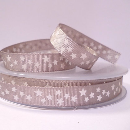 Double Sided Star Ribbon :: Silver