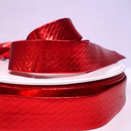 Metallic Bias Binding :: Red