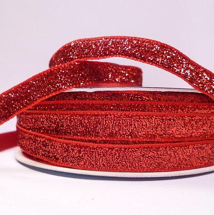 10mm LUXURY Glitter Velvet Ribbon :: Red
