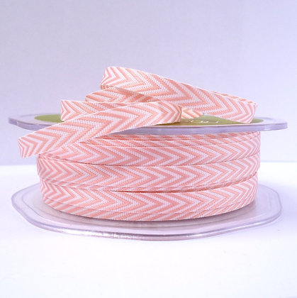 narrow twill ribbon :: pale pink
