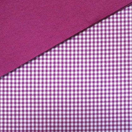 Fabric Felt :: Wide Purple Gingham on Thistle
