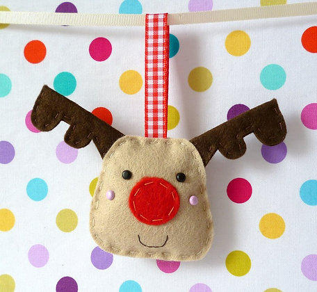 Handmade Mini Christmas Decoration :: Reindeer