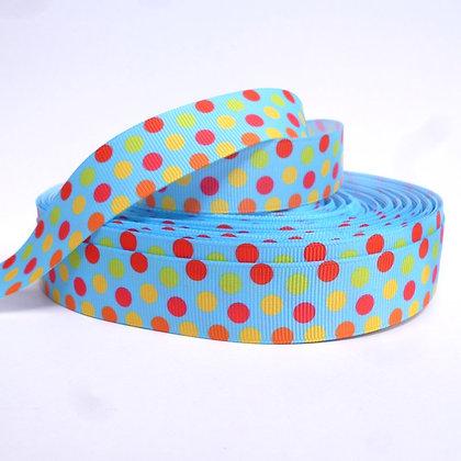 Pattern Grosgrain Ribbon :: Blue & Dots