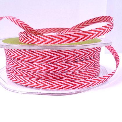 narrow twill ribbon :: red