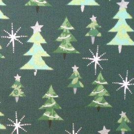 Fabric :: Celebration :: Green Tree