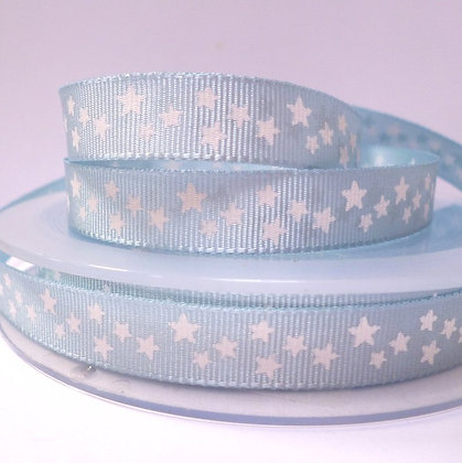 Double Sided Star Ribbon :: Baby Blue