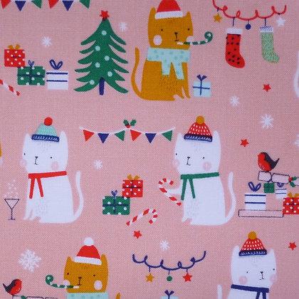 SALE Fabric :: Festive Friends :: Cracker Cats