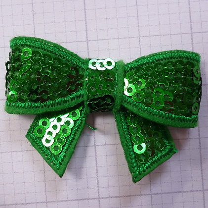Sparkle Bow :: Medium :: Emerald