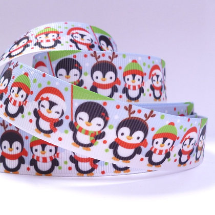 Christmas Grosgrain Ribbon :: Penguins