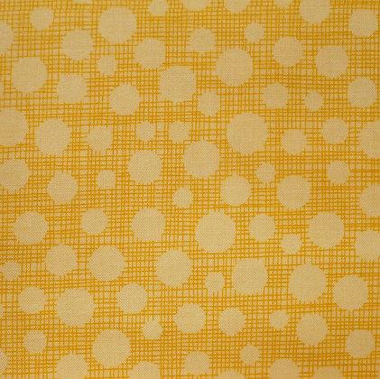 Fabric :: Hash Tag Dot :: Yellow