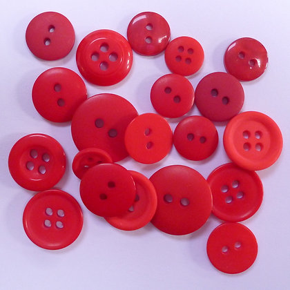 Dyed Pick & Mix Buttons :: Red