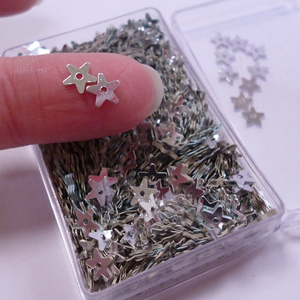 Tiny Sequins :: Box full of stars SILVER