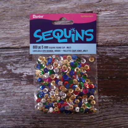 A BIG bag of Tiny Sequins (5mm) :: Multicoloured