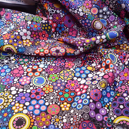 Fabric :: Effervescence :: Bright (Black Edges)