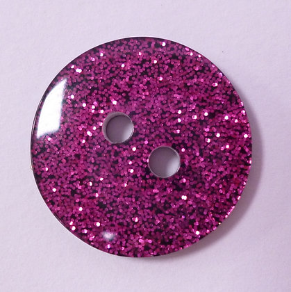 Colour Glitter Buttons :: LARGE :: Pink
