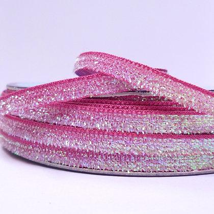 5mm Glitter Velvet Ribbon :: Fuchsia