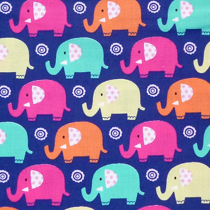 Fabric :: Mini Elephants :: Navy
