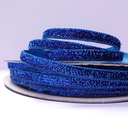 5mm Glitter Velvet Ribbon :: Royal