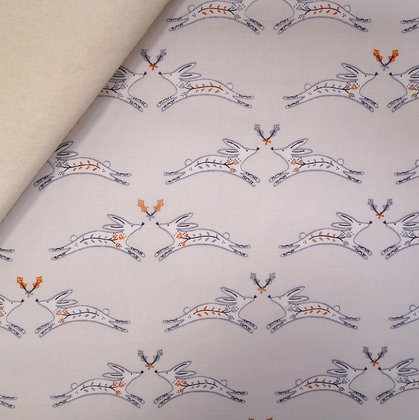 Fabric Felt :: Winterfold :: Hares on Natural