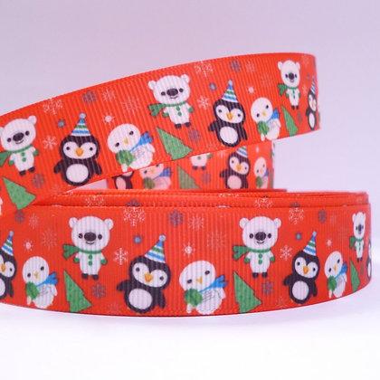 Christmas Grosgrain Ribbon :: Polar Bear/Penguin