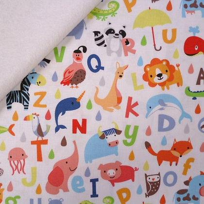 Fabric Felt :: Noah's Ark :: Alphabet Animals on White
