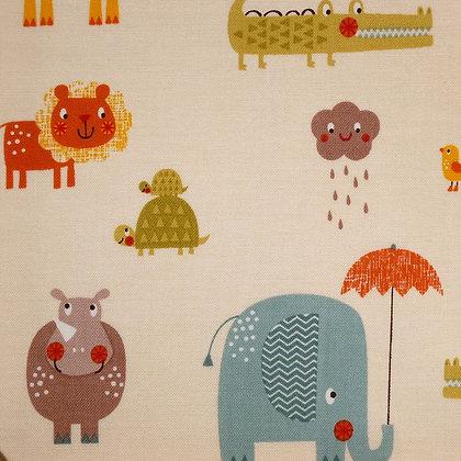 SALE Fabric :: Giraffe Crossing :: Noah's Ark