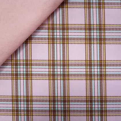Fabric Felt :: Pastel Plaid Pink on Blush