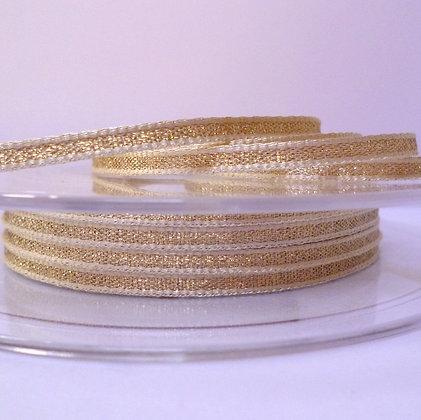 Lame Ribbon :: 3mm Pale Gold