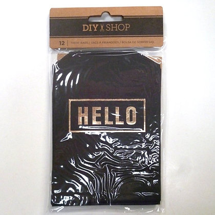 Paper Bags :: Black with Gold Foil