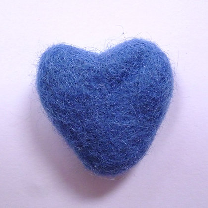 Felt Hearts 100% Wool :: Cornflower