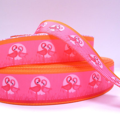 Cute Grosgrain Ribbon :: Flamingoes