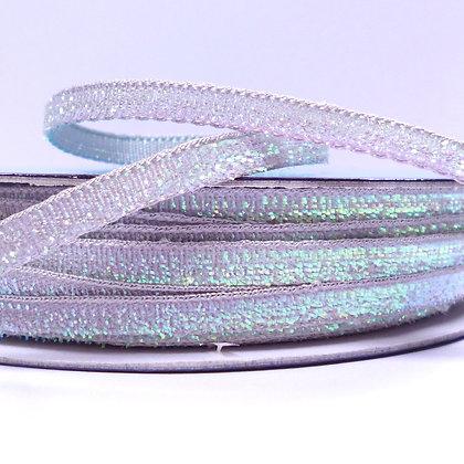5mm Glitter Velvet Ribbon :: Grey