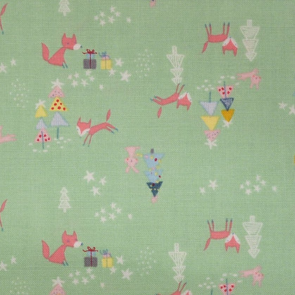 Fabric :: A Winter Tale :: Foxes Green
