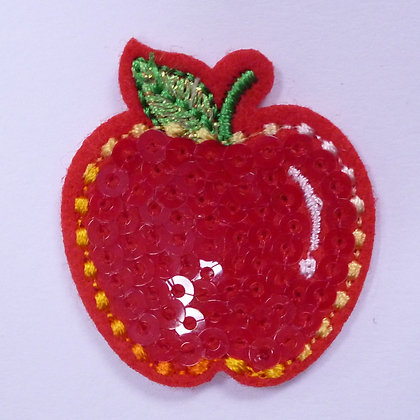 Embroidered Motif :: Sequin Apple