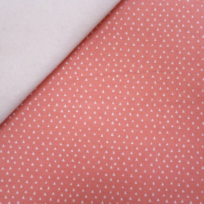 Fabric Felt :: Heart & Soul Mini Triangles :: Coral on Natural LAST FEW