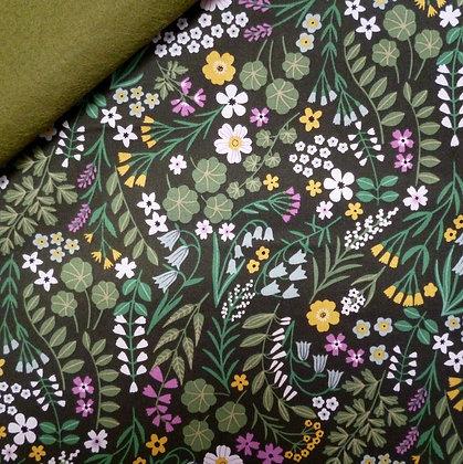 Fabric Felt :: Woodland Wander :: Dark Forest on Moss LAST FEW