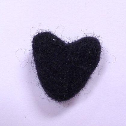Felt Hearts 100% Wool :: Black