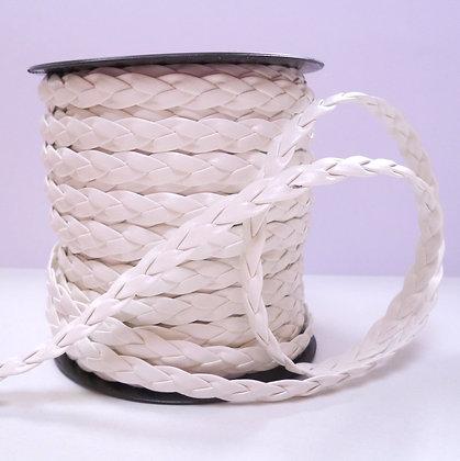 Faux Leather Plait :: White