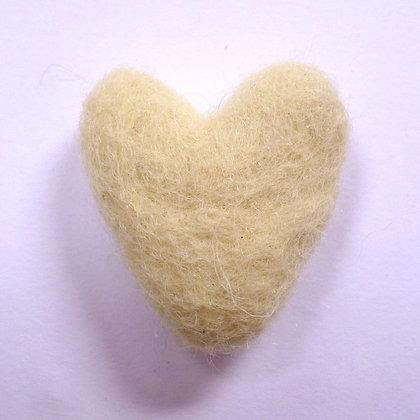 Felt Hearts 100% Wool :: Vanilla