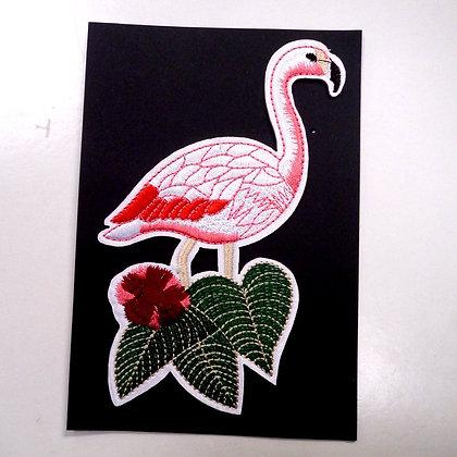 Extra LARGE Embroidered Motif :: Flamingo