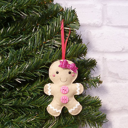 Mrs Gingerbread (Bright) Christmas Decoration Kit