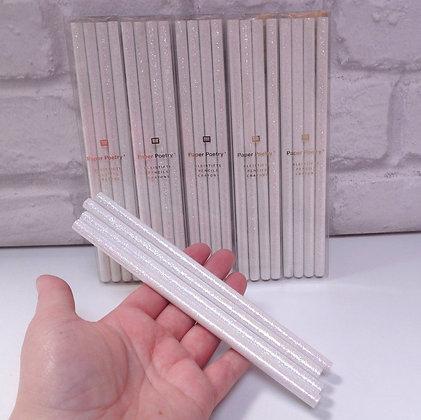 White Glitter Pencils
