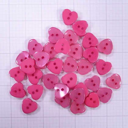 Mixed Button Bags :: Pink Hearts