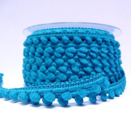 Teeny Tiny Pom Pom Trim (with gaps) :: Bright Blue