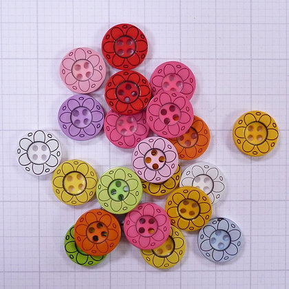 Mixed Button Bags :: Sketch Flower