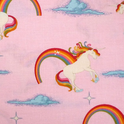 Fabric :: Unicorn :: Pink